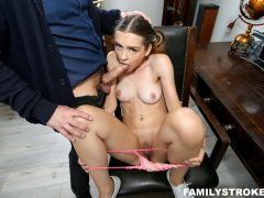 FamilyStrokes - Disciplined Stepdaughter Dick Down